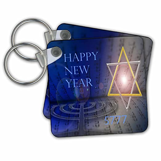 jewish themes image of contemporary jewish new year with shining star key chains