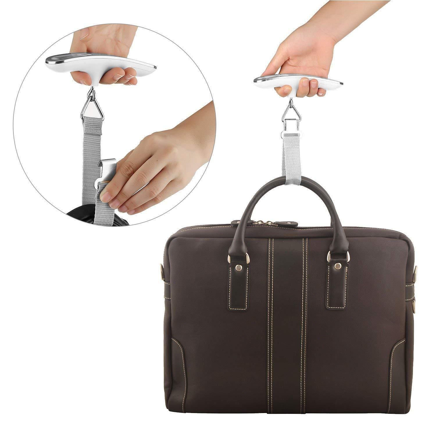 50kg Travel LCD Digital Hanging Luggage Scale Electronic Weight 110lb
