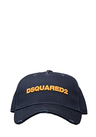 DSQUARED2- BCMOO28 05C00001 D2 Baseball Cap in Navy  Amazon.co.uk  Clothing 7fa2cfef218