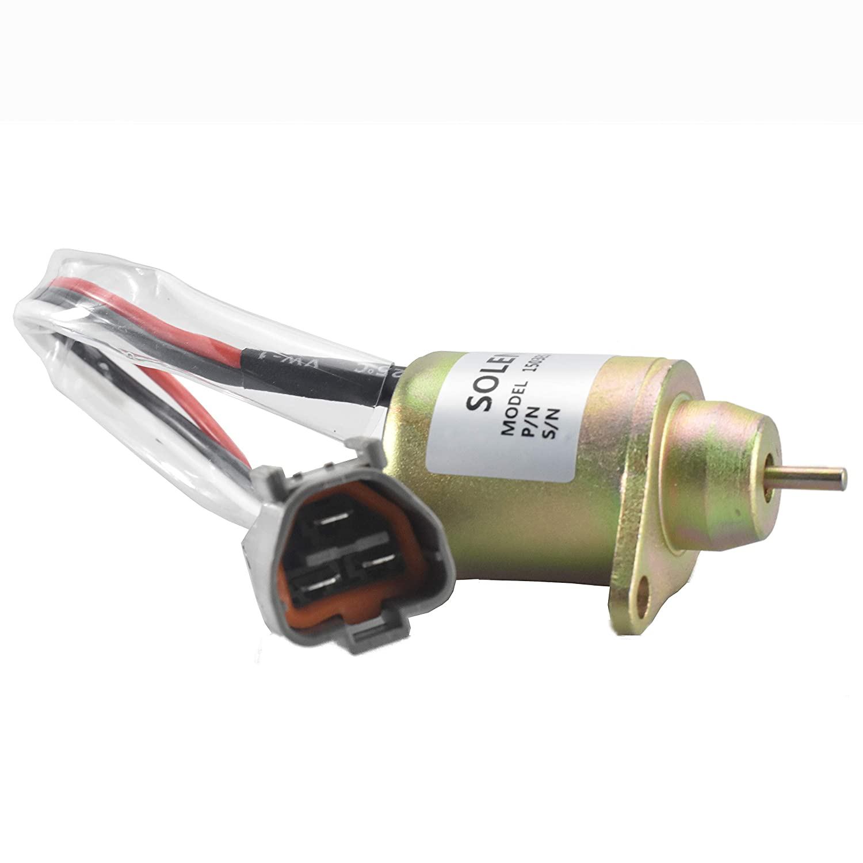 Fuel Shut Off Solenoid M810324 Yanmar 119233-77932 Synchro Woodward 1503ES-12S5SUC12S Komatsu PC40,PC45 12VDC