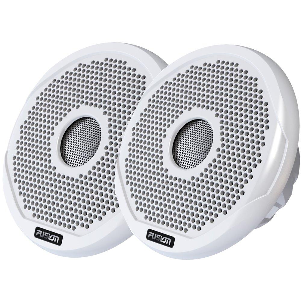 Brand New Fusion 4'' Round 2-Way Ipx65 Marine Speaker - 120W - (Pair) White