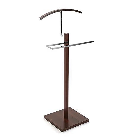 Versa 18790422 Galán de noche mueble Wengue, 112x35x35cm Metal y madera oscura