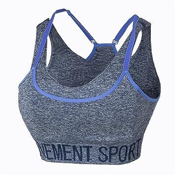 Qosow Sujetadores Deportivos para Mujer Ropa Interior de los Deportes Femeninos a Prueba de choques Running