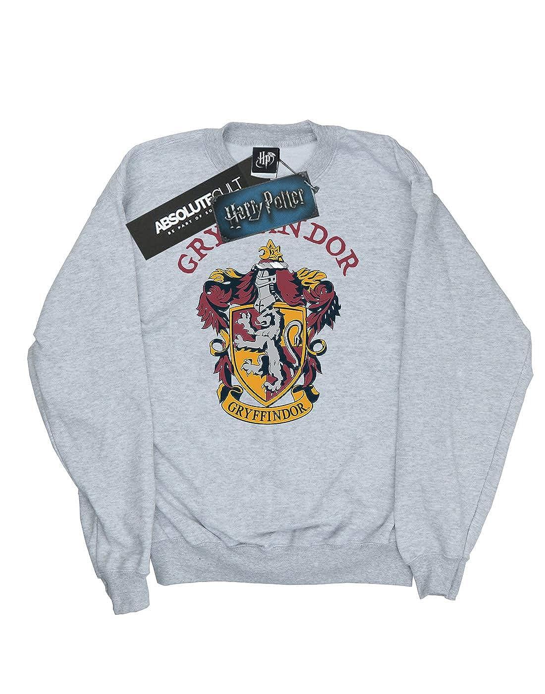 HARRY POTTER ni/ños Gryffindor Distressed Crest Camisa De Entrenamiento 12-13 Years Oscuro Heather