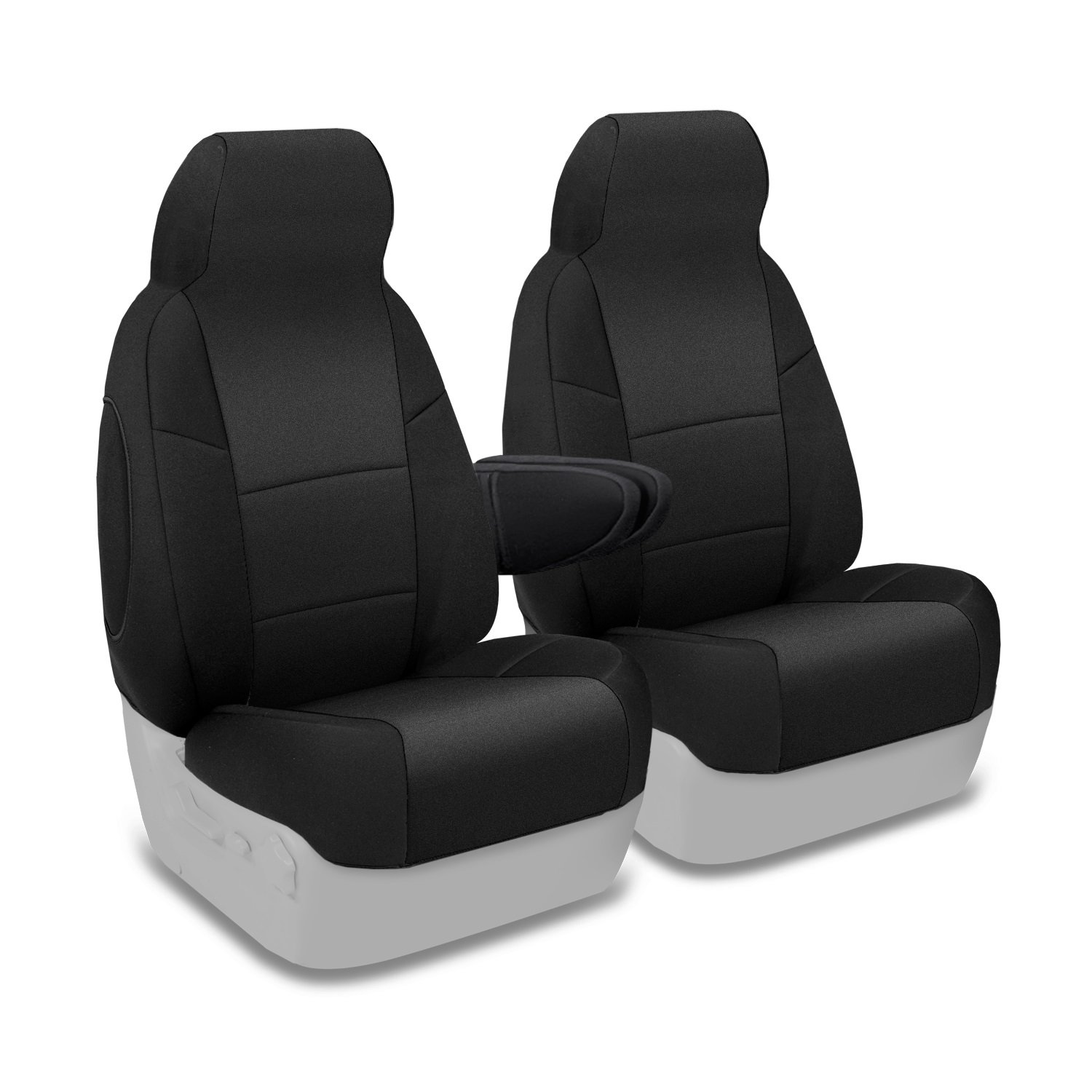 Coverking Custom Fit Front 50/50 Bucket Seat Cover for Select Chevrolet Models - Neosupreme Solid (Black) by Coverking
