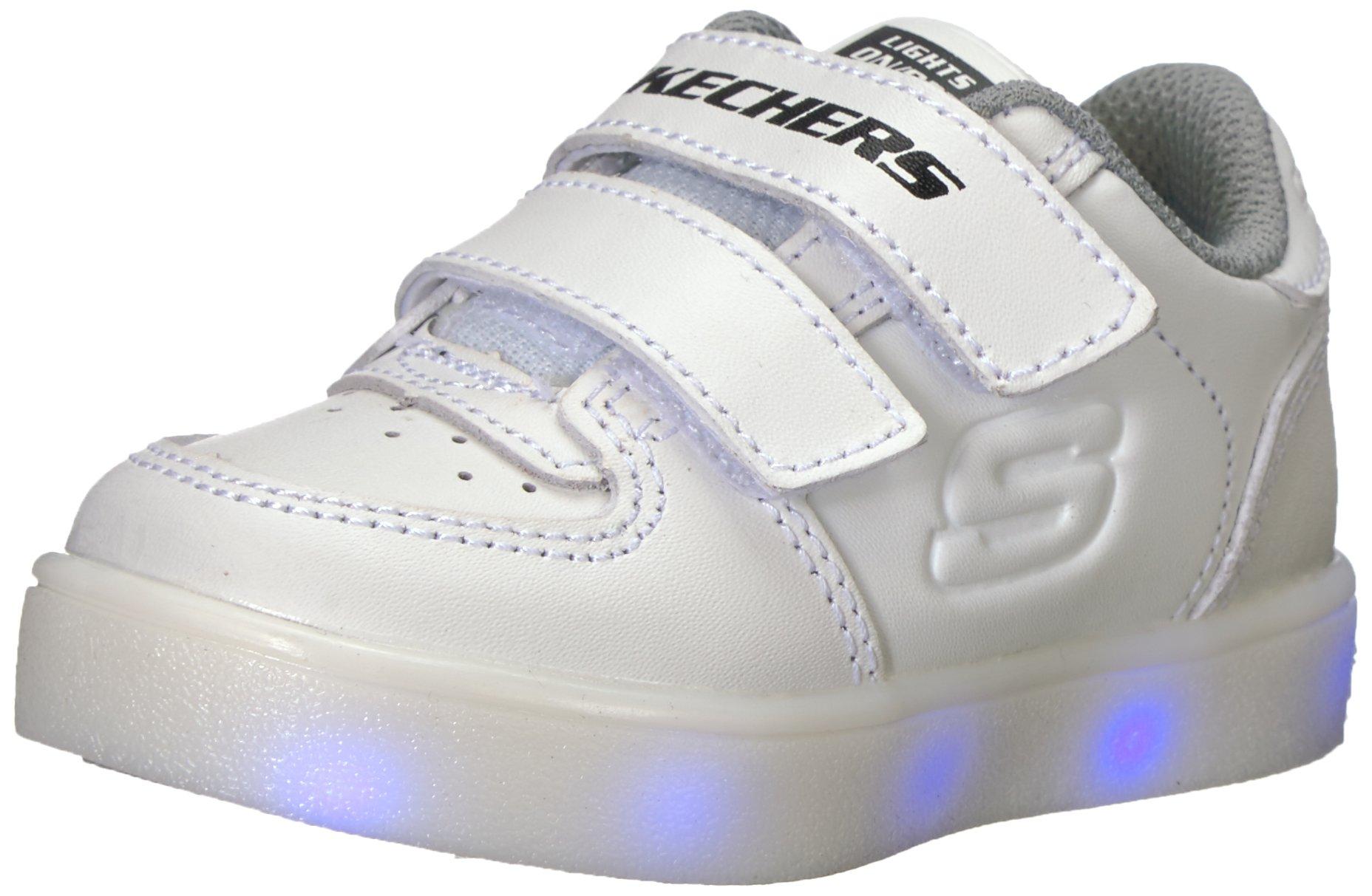 0424af8129d00 Skechers Kids' Energy Lights-90631n Sneaker White Toddler Size 6 ...