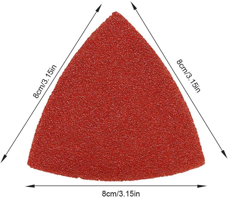 Lot de 20/40/Grit Hook /& Loop triangulaire Outil abrasif pour pon/çage pour bois Coupe 3 1//20,3/cm oscillant Multi outil Patin de pon/çage