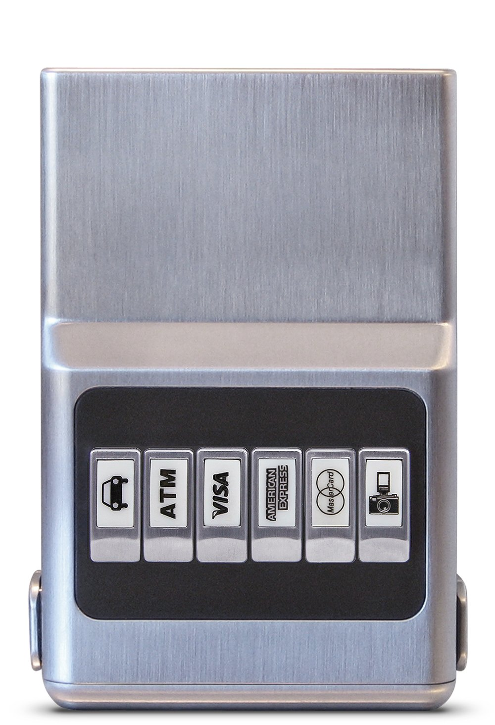ACM Wallet Credit Card Holder - Front Pocket Organizer, Easy Push Button Use (Chrome Silver RFID)
