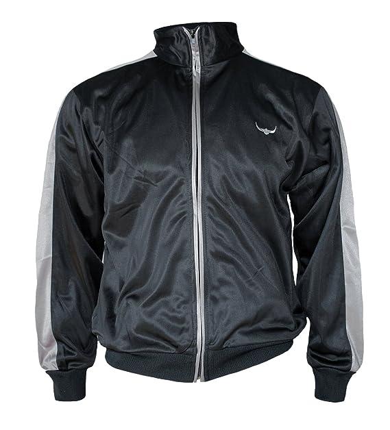 ROCK IT Apparel® Herren Track Jacket stylische und hochwertige Retro Style Trainingsjacke Tracktop Sweater Jacke in den Farben Rot Weiß Grün