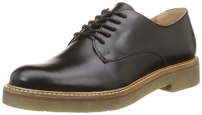 Kickers Oxfork, Zapatos de Cordones Derby para Mujer 40 EU|Negro