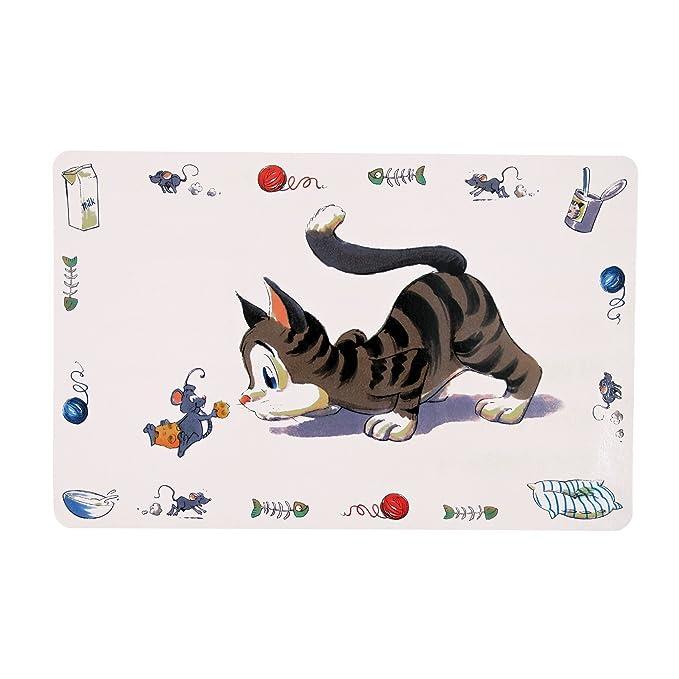 Trixie 24544 Salvamanteles Gato Cómico, 44 x 28 cm: Amazon.es: Productos para mascotas