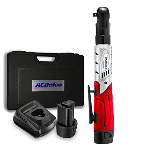 ACDelco Cordless 3 8 Ratchet Wrench 57 -Lb of max Torque Tool Set with 2 Batteries Charger, Carrying Case ARW1201