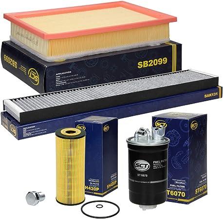 Inspektionspaket Wartungspaket Filterset 1 X Ölfilter 1 X Luftfilter 1 X Innenraumfilter Mit Aktivkohle 1 X Kraftstofffilter 1 X Ölablaßschraube Mit Dichtung Auto