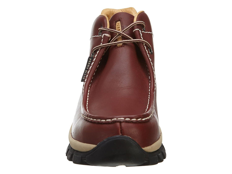 5907a23dd4 Perry Ellis America Progress Lea Mens Style  159228-BURGUNDY Size  13   Amazon.com.mx  Ropa