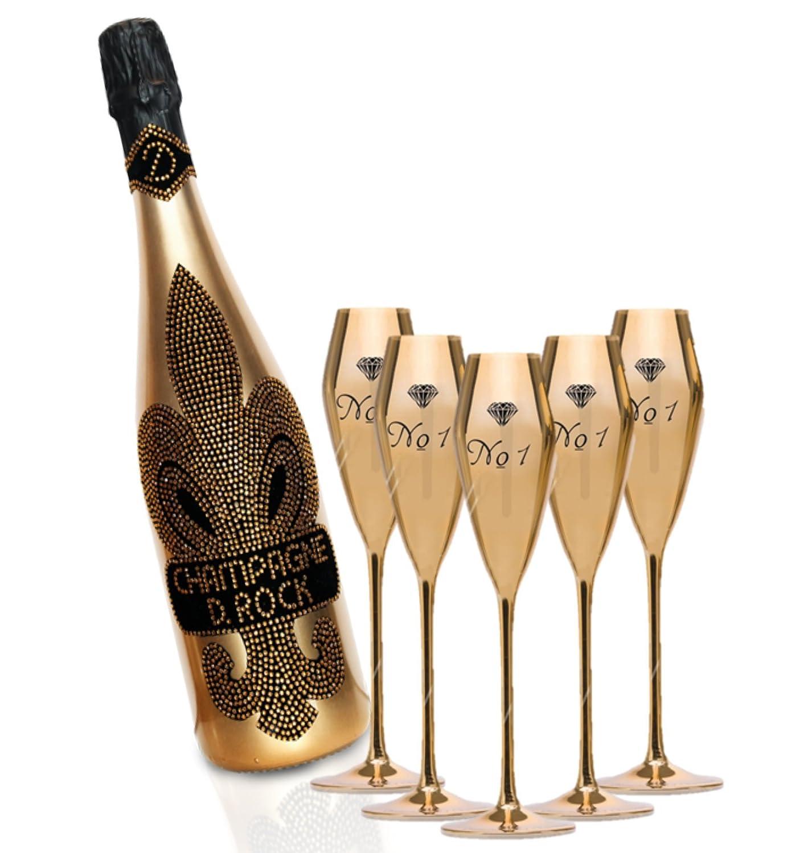 Champagner VE Champagne D. Rock Diamond Rock mit Schmuckkristallen Image