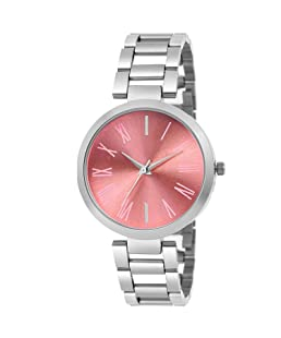 Rexan 444 Rose Gold dial Silver Chain Designer Strap Girls & Women Watch
