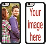 Custom iPhone Cases iPhone 7 PLUS, iPhone 8 PLUS iZERCASE [PERSONALIZED CUSTOM PICTURE CASE] Make Your Own Phone Case (BLACK)