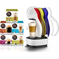 Nescafe Dolce Gusto Colors Coffee Machine with 5 Capsule Boxes (80 Capsules), White