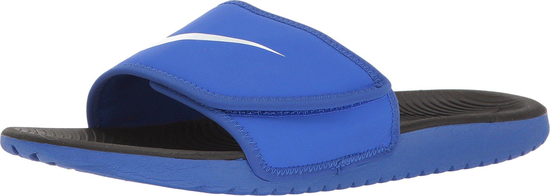 NIKE Kids' Kawa Slide Sandal, Racer Blue/White, 3 M US Little Kid