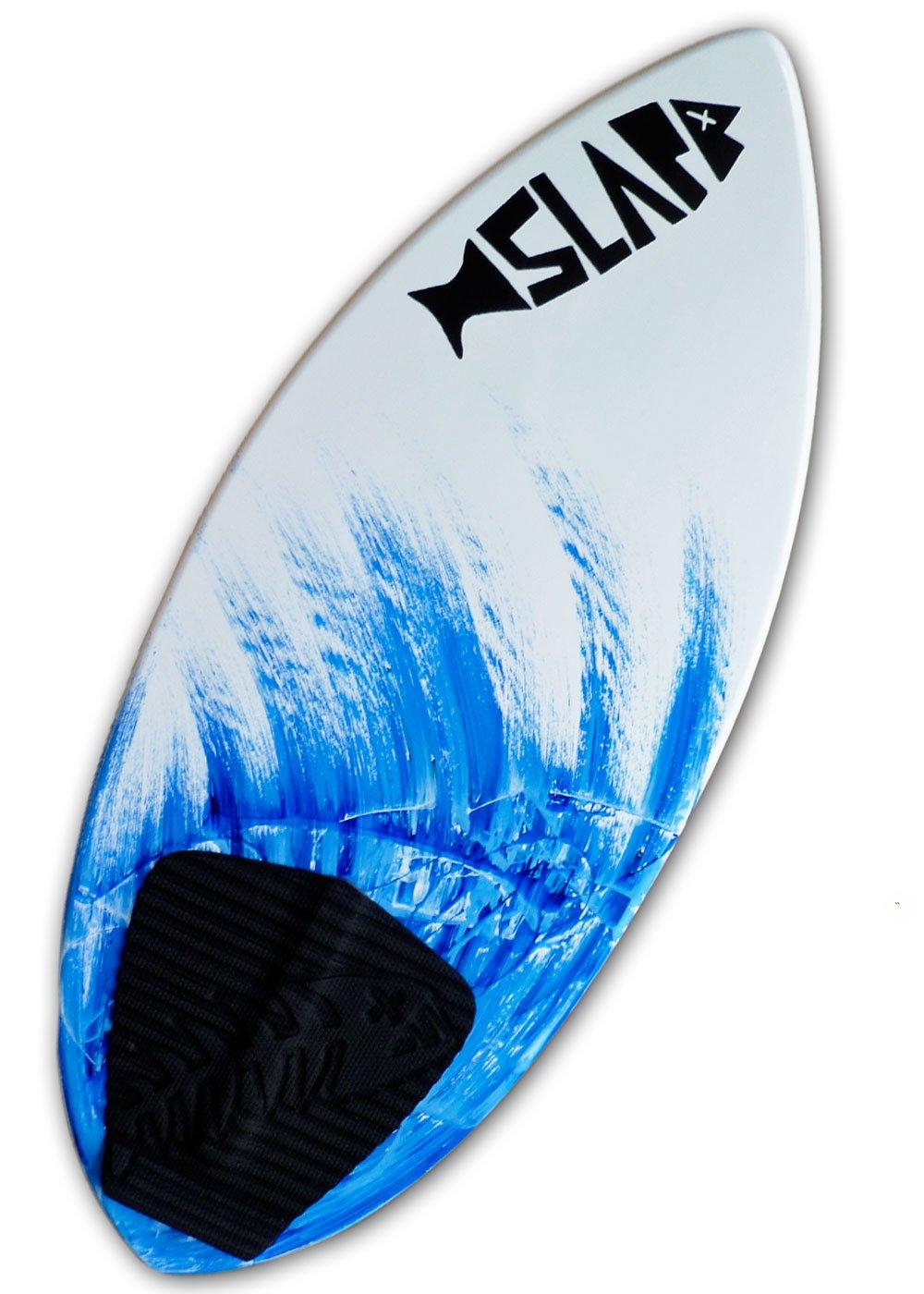 Slapfish Skimboards - Fiberglass & Carbon with Traction Deck Grip - Kids & Adults - 2 Sizes - Blue (52'' Board)
