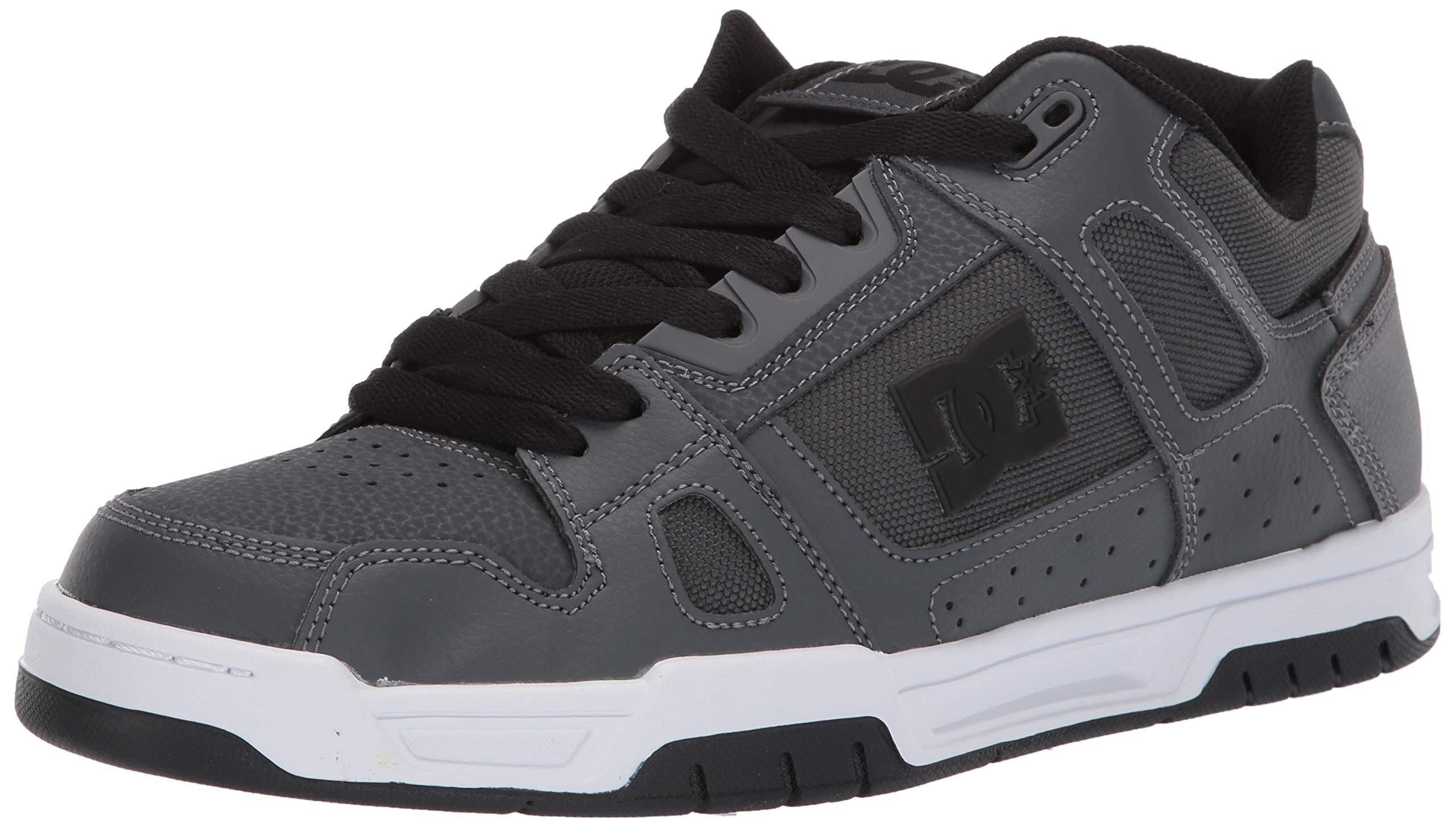 DC Men's STAG Skate Shoe, Dark Grey, 6 M US