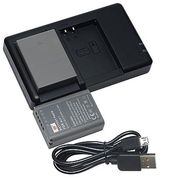 DSTE 2PCS BLN-1(2100mAh/7.6V) Batería Cargador Compatible para Olympus OM-D E-M1,OM-D E-M5,Pen E-P5,OM-D E-M5 II