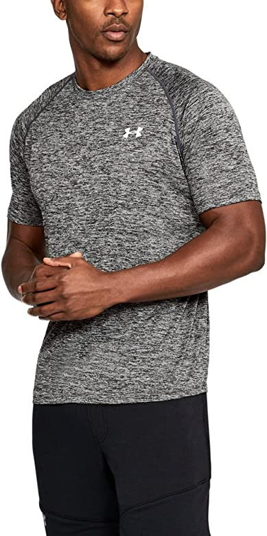 15b620c7f0 Amazon.com : Under Armour Men's Tech Short Sleeve T-Shirt, Black ...