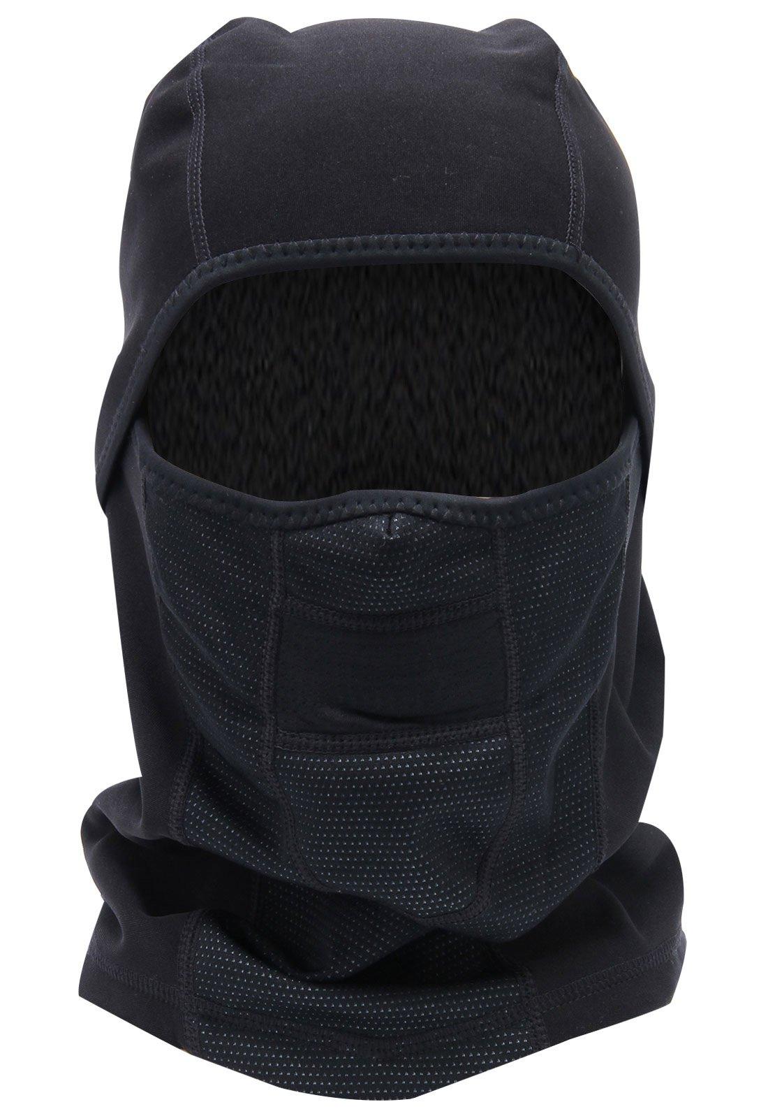 Mens Winter Fleece Cold-Proof Motorcycle Riding Mask Outdoor Hood Neck Warmer - Black