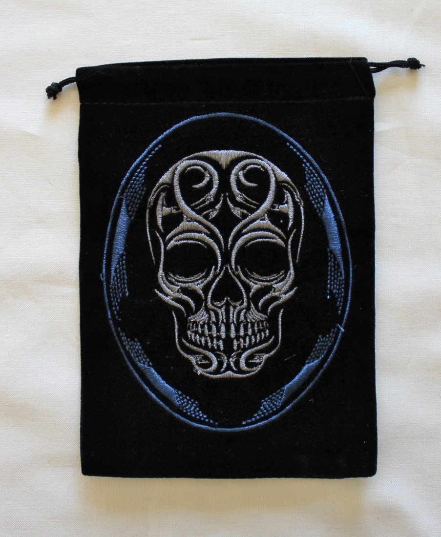 Skull Unlined schwarz Velvet Velvet Velvet Tarot Bag by Magical Times 808 36d2df