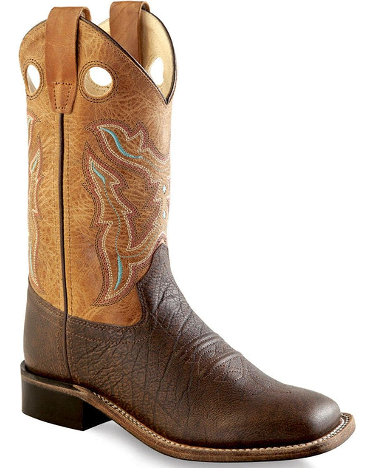 Old West Boys Cowboy Boot Square Toe BSC1819