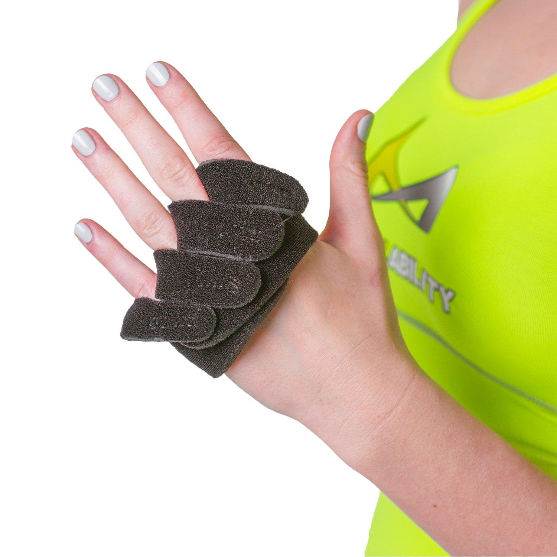 BraceAbility Ulnar Deviation & Drift Hand Splint   MCP Knuckle Joint Support Brace for Rheumatoid Arthritis & Tendonitis Pain Relief, Finger Straightener & Stretcher Glove - L (MED / LGE) LEFT