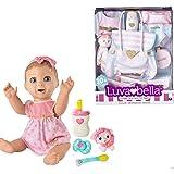 Luvabella Doll Bundle ----- BLONDE Hair Doll + 10pc Diaper Bag Nursery Set