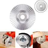 Grinder Shaping Disc - Woodworking Wood Angle Grinding Wheel - Tungsten Carbide Wheel - Carving Abrasive Disk - Cutter Woodworking Tool for Sanding Polishing Sander Attachments Wheel Plate 3.3inch