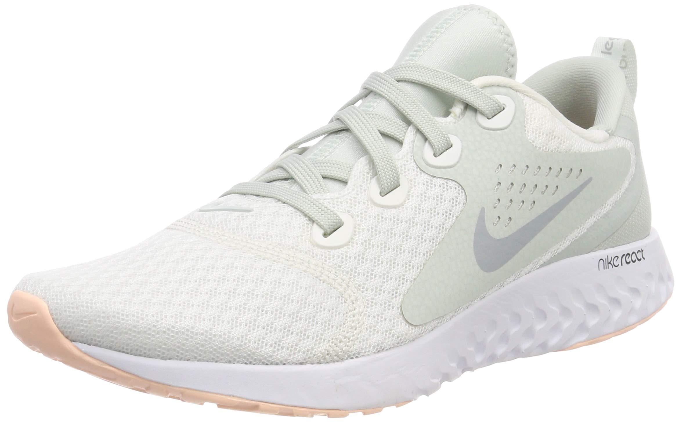 ccf740fc0822f Galleon - Nike Women's Legend React Low-Top, Summit White/Wolf Grey/Light  Silver, US 8.5