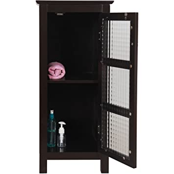Amazon Floor Storage Cabinet Traditional Wood Espresso Brown