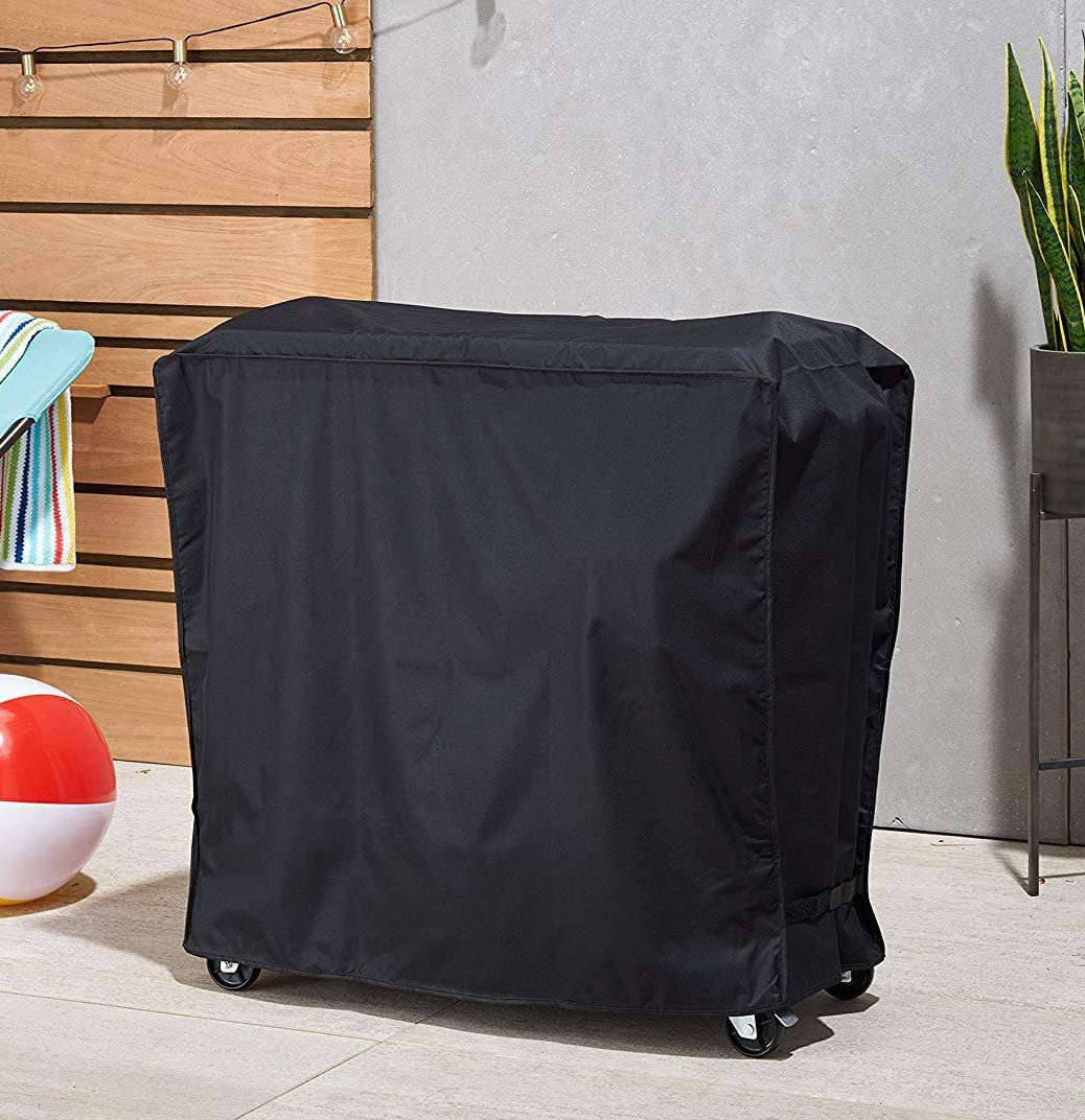 36 L x 19.5 W x 31.5 H 80 QT Waterproof UV Protected Rolling Beverage Freezer Complete with Compact Storage Bag Pouch Laurel Made Portable Cooler Fridge Cart Cover