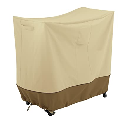 Classic Accessories 55-799-031501-00 Veranda Patio Double Handle Bar Cart, Medium