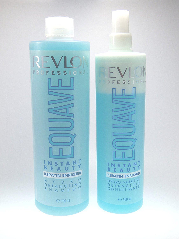 Revlon Equave, balsamo alla cheratina a 2fasi da 500ml + Revlon Equave shampoo alla cheratina da 750ml (etichetta in lingua italiana non garantita)