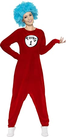 Medium Adults Thing 1 Or Thing 2 Costume