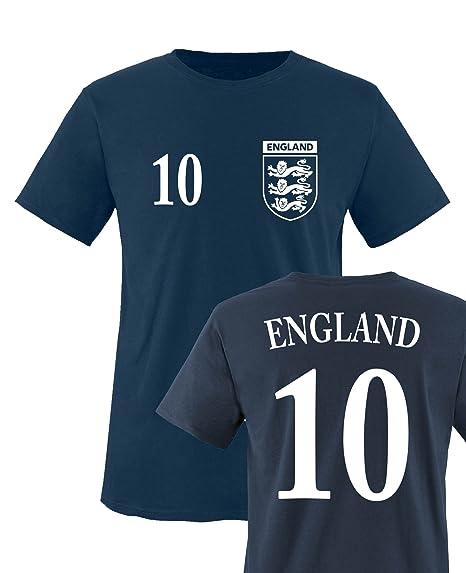 first rate 2cb7f db46c Comedy Shirts Kinder Fußball Shirt - WM/EM/WUNSCHDRUCK - Rundhals T-Shirt  für Kinder - England Shirt in versch. Farben u. Größen