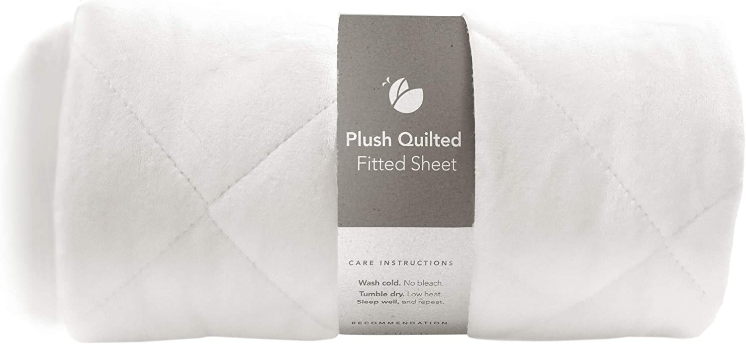 Guava Family - Lotus Crib Plush Quilted Fitted Sheet | Designed for Perfect, Manufacturer-Approved Fit, Soft & Safe for 1 Yr & Older, Unisex, Boys & Girls (New)