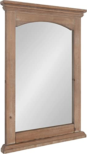 Kate and Laurel Helcomb Rustic Wood Framed Wall Mirror