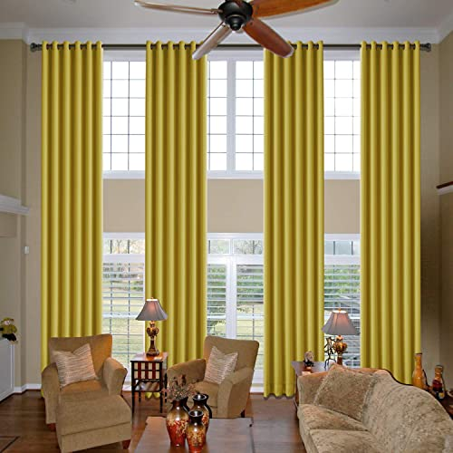 cololeaf Extra Long and Wide Blackout Curtains Thermal Insulated Premium Room Divider Grommet Wide Curtain Large Size