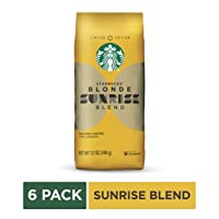 6 Pk Starbucks Blonde Sunrise Blend Light Roast Ground Coffee