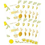 FaceTory Be Bright Be You Vitamin C Brightening Foil Mask - Moisturizing, Revitalizing, and Brightening (Pack of 10)