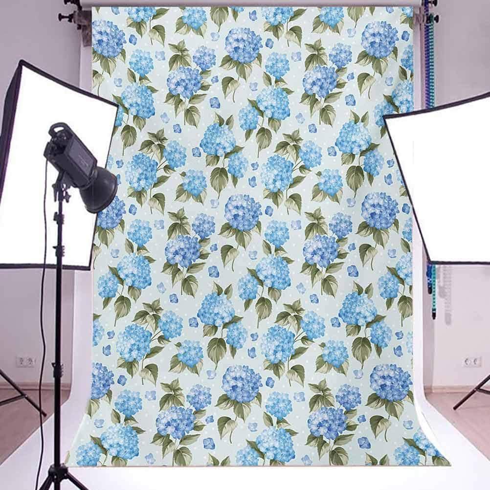 Hydrangea Flowers Over Soft Background Wedding Bridal Artistic Design Background for Child Baby Shower Photo Vinyl Studio Prop Photobooth Photoshoot Flower 10x15 FT Photography Backdrop