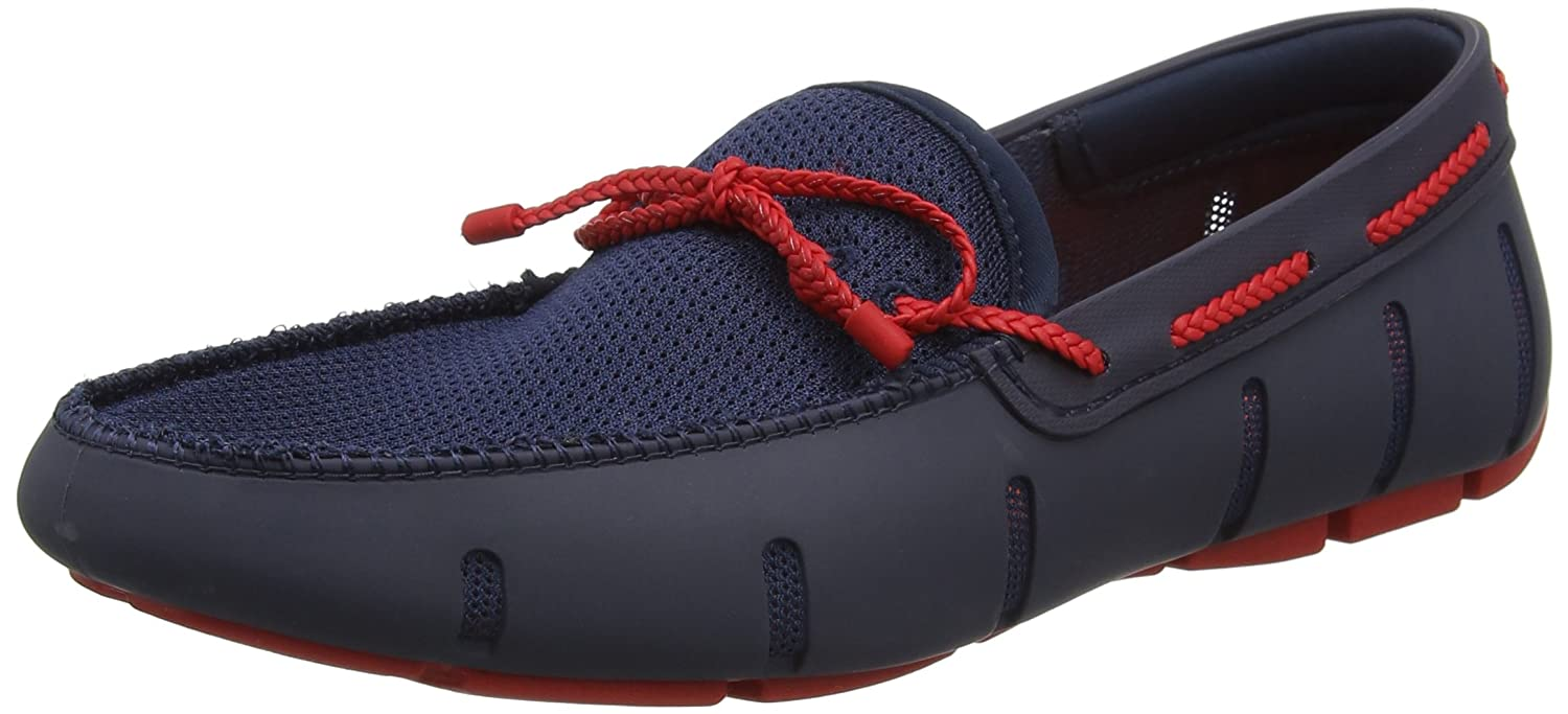 bluee (Navy Red) Swims Men's Braided Lace Loafer