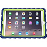 Gumdrop Cases Hideaway Stand for Apple iPad Air 2 Rugged Tablet Case Shock Absorbing Cover Royal Blue/Lime A1566, A1567
