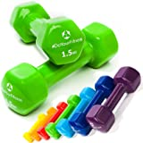 Pesi in vinile »Hexagon« Pesetti disponibili in tantissime varianti di peso e colore / 1,5 kg, verde