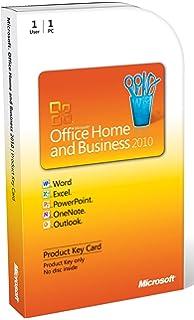 Amazoncom Microsoft Office 2010 Home Business Dvd Version